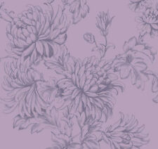 Vintage HOC Clara Dusky Plum Purple Wallpeper. For feature/accent wall.
