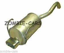 FIAT 500 EXHAUST REAR SILENCER (CHROME OVAL EXIT TAIL PIPE) 100% QUALITY UNIT