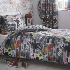 Tricks Skateboarding duvet set, reversible, matching pillows