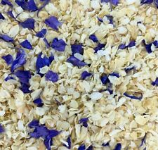 Biodegradable Blue IVORY Wedding Confetti NATURAL Dried Petals DYE-FREE 7 Guests