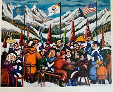 """Guy Buffet """"Salt Lake 2002 Olympics"""" Serigraph 27""""x 30"""" Signed Limited Edition"""
