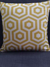 Cushion Cover Made In Prestigious Textiles Hex Fabric With Plain Reverse