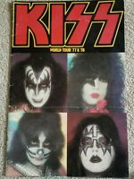 kiss aucoin vintage '77 & '78 World Tour tour book. Fair condition but very rare