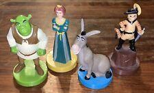 RARE Shrek Figures Stampers Shrek Fiona Donkey Puss In Boots DreamWorks Set 2003