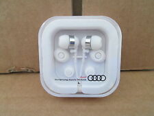 New Genuine Audi In Ear Headphones Earphones Headset White Boxed 26000151
