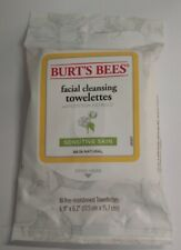 Burt's Bees Facial Cleansing Towelettes + Cotton Extract, 10 Towelettes