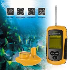 Wireless Fish Finder Sonar Sensor Transducer Sounder Fishing Finder Alarm O3Z9