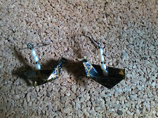origami dove/resting peace crane freshwater pearl hematite .925 silver earrings