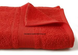Luxe 100% Coton Égyptien Super Doux 600 Gsm Serviettes Bain Drap Rouge Large