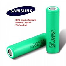 2x Genuine Samsung 18650 25R INR 3.7 2500mAh 20 35A Rechargeable Battery Vape