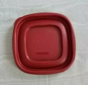 """Rubbermaid Red or Dark Red Replacement  Lid Only 7J58 - 4"""" x 4"""" inside edge"""