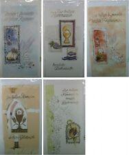 Kommunionkarte - Glückwunschkarte mit Golddruck - 5 Stück