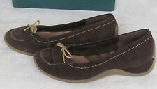 NEW Clarks Ladies Brown Suede Leather Wedge Slip On Shoes Size 4