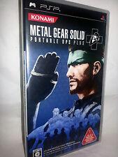 METAL GEAR SOLID PORTABLE OPS PLUS USATO OTTIMO SONY PSP EDIZIONE JAP VBC 52854