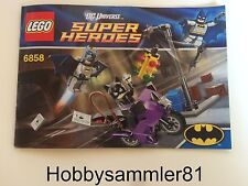 Lego® 6858 DC Universe Super Hereos Bauanleitung Catwoman Catcycle City Chase
