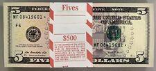 Strap 2013 F6 Atlanta $5 **Star Notes** PACK Original BEP Strap Consecutive SN