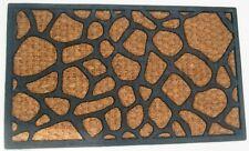 Stone Design Rubber Backed Coir Door Mat