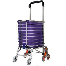 Hosmat,, Folding Shopping Cart Portable Stair Climbing Grocery Carts Reusable
