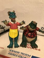 Disney Dinosaur TV Show Action Figures Fran & Earl Sinclair Great Cond No Access