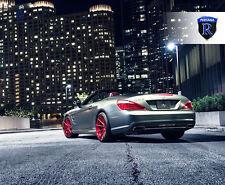 20x9 20x10 +33 Rohana RF1 5x112 Full Red Wheels Fit Mercedes Benz Sl550 2014 Rim