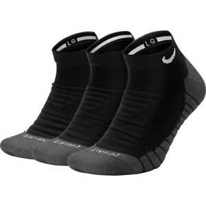 NEW NIKE Youth DRY CUSHIONED NO SHOW SOCKS BLACK 3 PRS Size 3Y-5Y