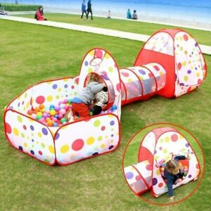 Kids Play Tent Ball Pit Tent Crawl Tunnel for Boys, Girls, Babies, and Toddlers