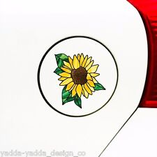 """CLR:GAS Sunflower D2 Stained Glass Style - Small Vinyl Decal ©YYDC(2.75""""Wx2.8""""H)"""
