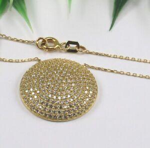 Kette Collier 585 14 kt. Gold Gelbgold Zirkonia 43 cm toll