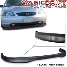 01 02 03 Honda Civic 2D 2DR Coupe CTR BM Carbon CF Urethane Front Bumper PU Lip