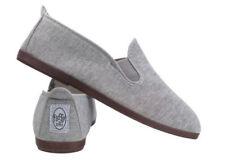 Zapatos planos de mujer de color principal gris de lona Talla 39
