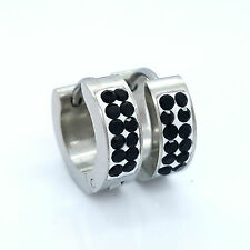 EARRINGS STAINLESS STEEL 316 L HUGGIE HOOP  MENS WOMENS 1 PAIR