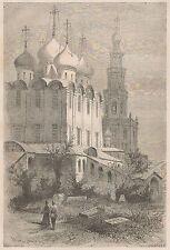 C1119 Russia - Moscou - Monastère des demoiselles - 1867 vintage engraving