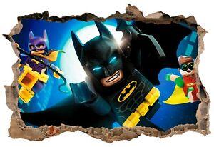 Lego Batman hole in the Wall Art Sticker High Quality Bedroom Decal Print V1