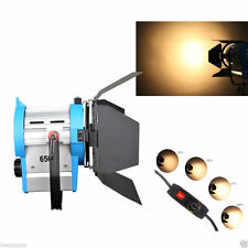 650W MOVIE TUNGSTEN FRESNEL SPOTLIGHT - LIGHTING STUDIO VIDEO BARNDOOR DIMMER BU