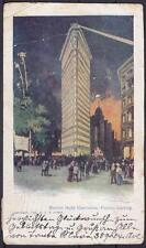 Tolle AK New York Flatiron Building Wahlnacht 1904, Election Night Illumination