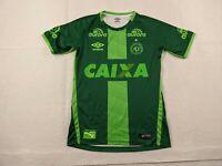 Umbro Chapecoense Soccer Jersey Adult Small Men Green Brazil Futbol 2016