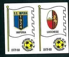 Fig. Calciatori Panini 1979-80 N.539 Scudetti Imperia/Lucchese! Nuova Non Comune