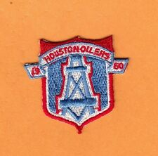 OLD HOUSTON OILERS SHIELD PATCH UNSOLD IRON ON POLO SHIRT BAGS HAT BABY ITEMS