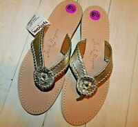 JACK ROGERS WHIPSTITCH THONG SANDALS SIZE 8.5 NEW