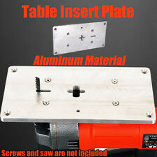 Multifuctional Aluminum Plunge Router Table Insert Plate for
