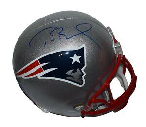 Tom Brady New England Patriots Autographed Riddell Replica Helmet Tristar