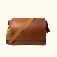 Buffalo Leather Messenger Bag Mens Laptop Satchel Computer Office Shoulder Bags