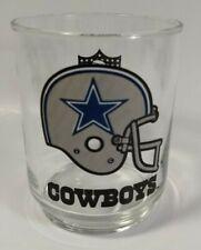Vintage Dallas COWBOYS HELMET 12oz GLASS/Tumbler-NFL Collectible Memorabilia