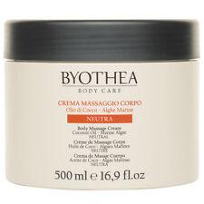 Neutral Massage Cream Body Byothea ® 500ml Crema Massaggio Neutra Coconut Oil