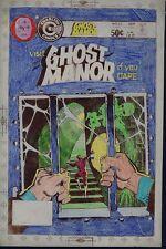 Ghost Manor 52 STEVE DITKO  Hand-Colored SATAN SKULL 1980 COVER ART Charlton CG
