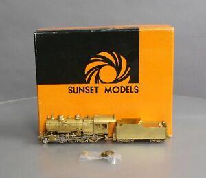 Sunset Models HO Scale BRASS PRR 2-8-0 Class H-8 Steam Loco & Tender LN/Box