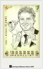 2008-09 Select Cricket Alan Border Medalist Sketch Card BMS6 Michael Clarke