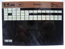 Kawasaki KX250 1983 Parts List Microfiche NOS k254