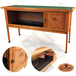 Pet Dwarf Rabbit Bunny Guinea Pig Wooden Hutch Small Animal House 4ft Shelter