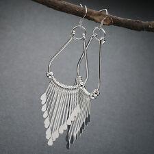 Women Fashion 925 Silver Earstud Hoop Dangle Earrings Wedding Jewelry